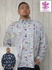 (大きいサイズ)MISHKA(ミシカ)「RUINS」長袖シャツ