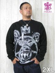 (大きいサイズ)MISHKA(ミシカ)「OVERSIZE SUTS MOP」クルーネック スウェットシャツ
