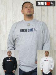 (大きいサイズ)THREE DICE(スリーダイス)「T−DICE」ロンTEE
